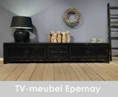 tv meubel oud hout epernay 240x50x50 - old black (6)