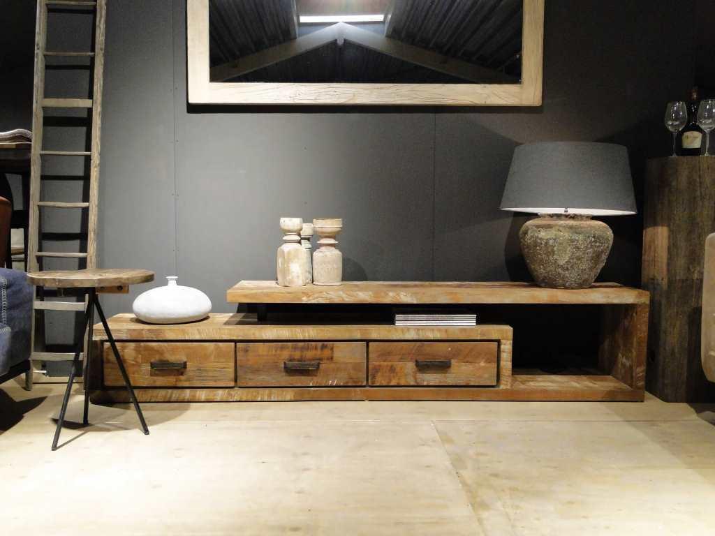 Tv meubel oud hout orvault for Meubels teak