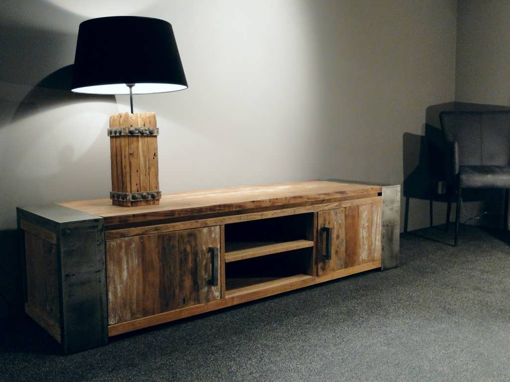 Tv meubel asmund van oud hout for Meubels teak