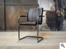 leren eetkamerstoel cenon - vertical dark brown