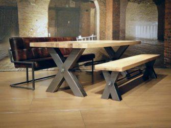 Bank keukentafel. simple bekijken arendal industriele tafel