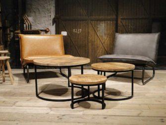 set van 3 ronde salontafels