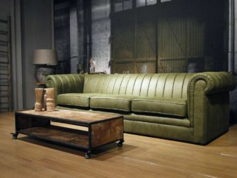 grote 4 zits chesterfield bank groen