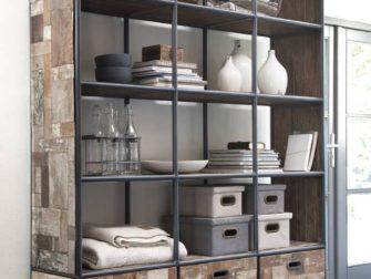 Kast Op Wielen : Industriële boekenkast bezons van recycled teak robuustetafels.nl
