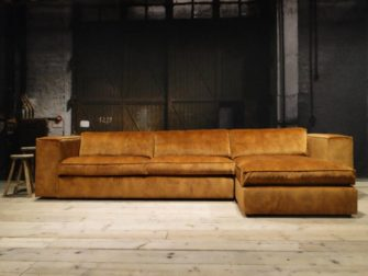 bank met lounge cognac