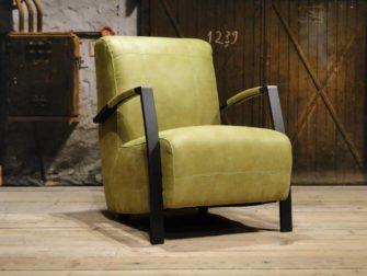 industriële groene fauteuil