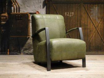 industriele fauteuil groen