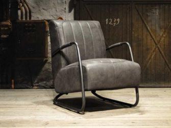 grijs leren fauteuil