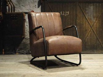 industriele fauteuil met ronde buis