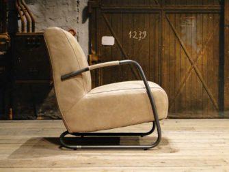 beige leren fauteuil