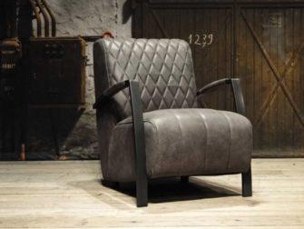 Leren fauteuil Edmund