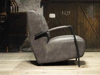 leren fauteuil grijs