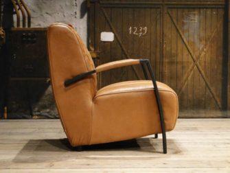 cognac leren fauteuil