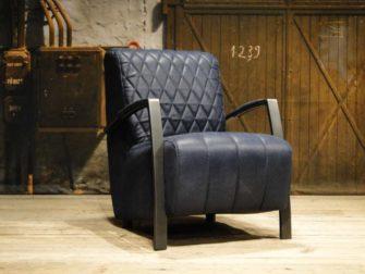 industriele fauteuil blauw