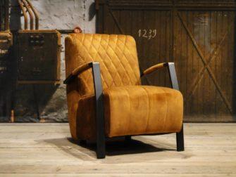 stoere fauteuil cognac