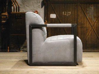 industriele fauteuil grijs