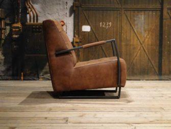 bruine leren fauteuil