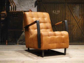 industriele cognac fauteuil