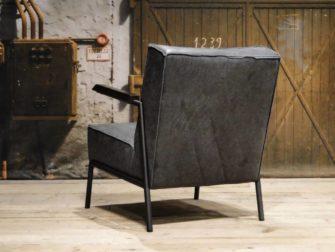 Leren retro fauteuil vitoria direct uit voorraad robuustetafels
