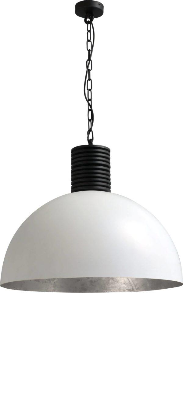 hanglamp white outside silverleaf inside