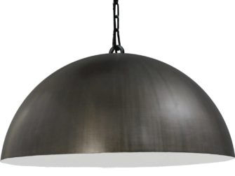 hanglamp gunmetal outside white inside