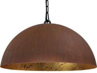 hanglamp rust outside goldleaf inside