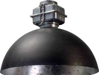 industriele hanglamp gun metal silverleaf