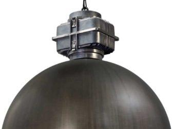 industriele hanglamp gun metal wit