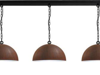 hanglamp rust outside white inside