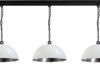 stalen hanglamp 3 kappen