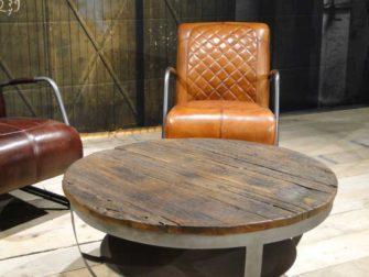 industriele ronde salontafel