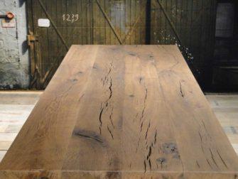 Massief eiken kloostertafel tressot op maat gemaakt