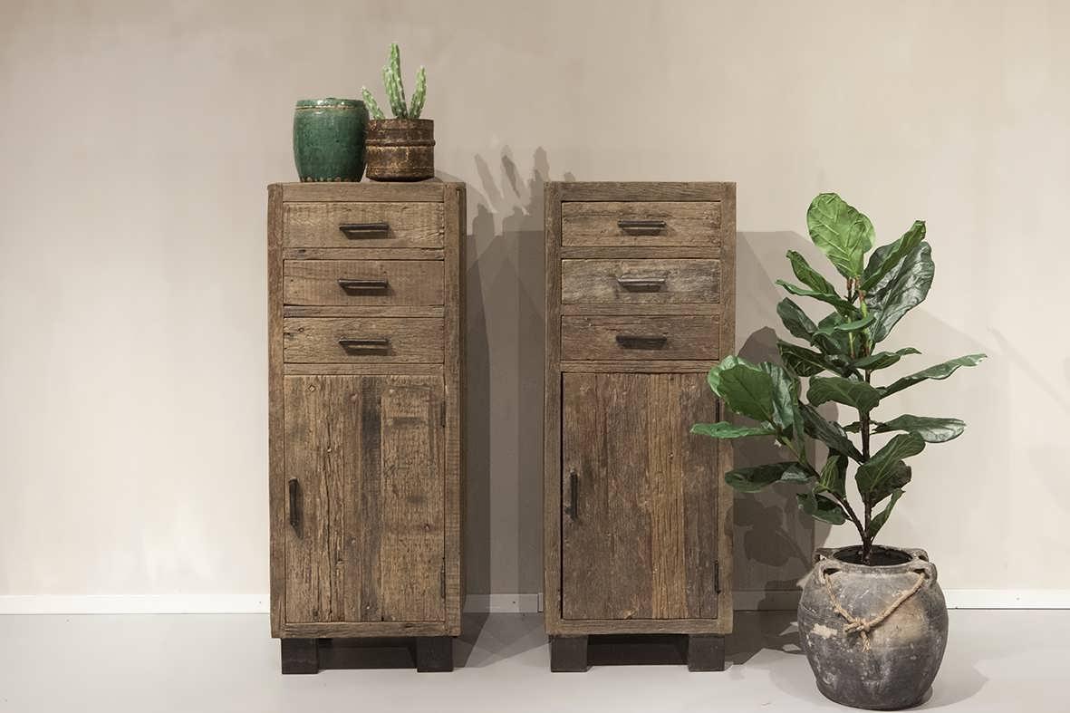 ladekast oud hout
