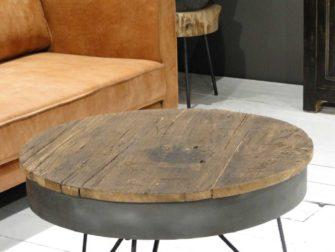 ronde industriele salontafel