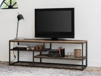 industrieel teak tv meubel