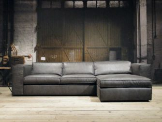 grijze hoekbank met chaise longue