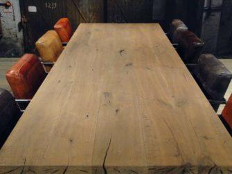 Rustiek Eiken Planken : Eiken spinnenpoot tafel chartres massief eiken robuustetafels