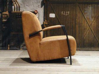 industriele fauteuil basil jeep cognac