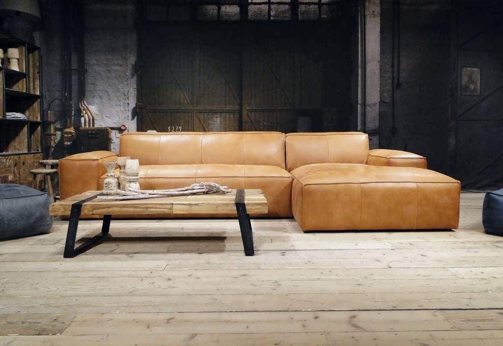 cognac bank longchair