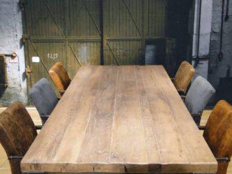 oud eiken tafelblad