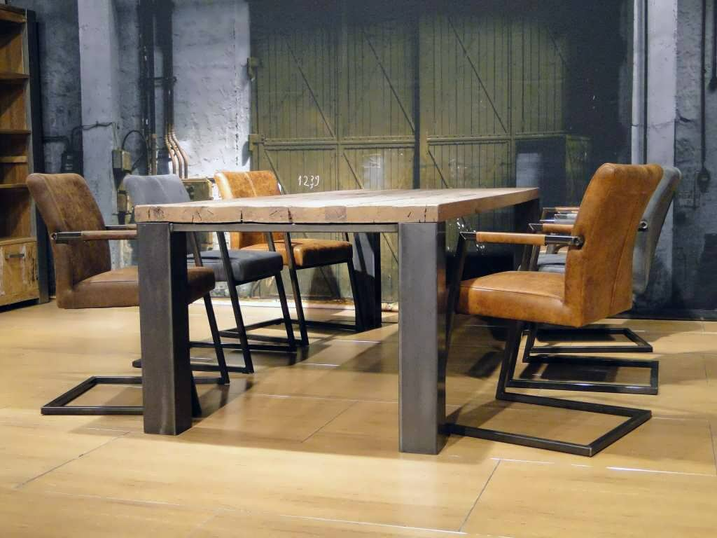 Robuuste Eiken Tafel : Eiken tafel imola op maat gemaakt robuustetafels
