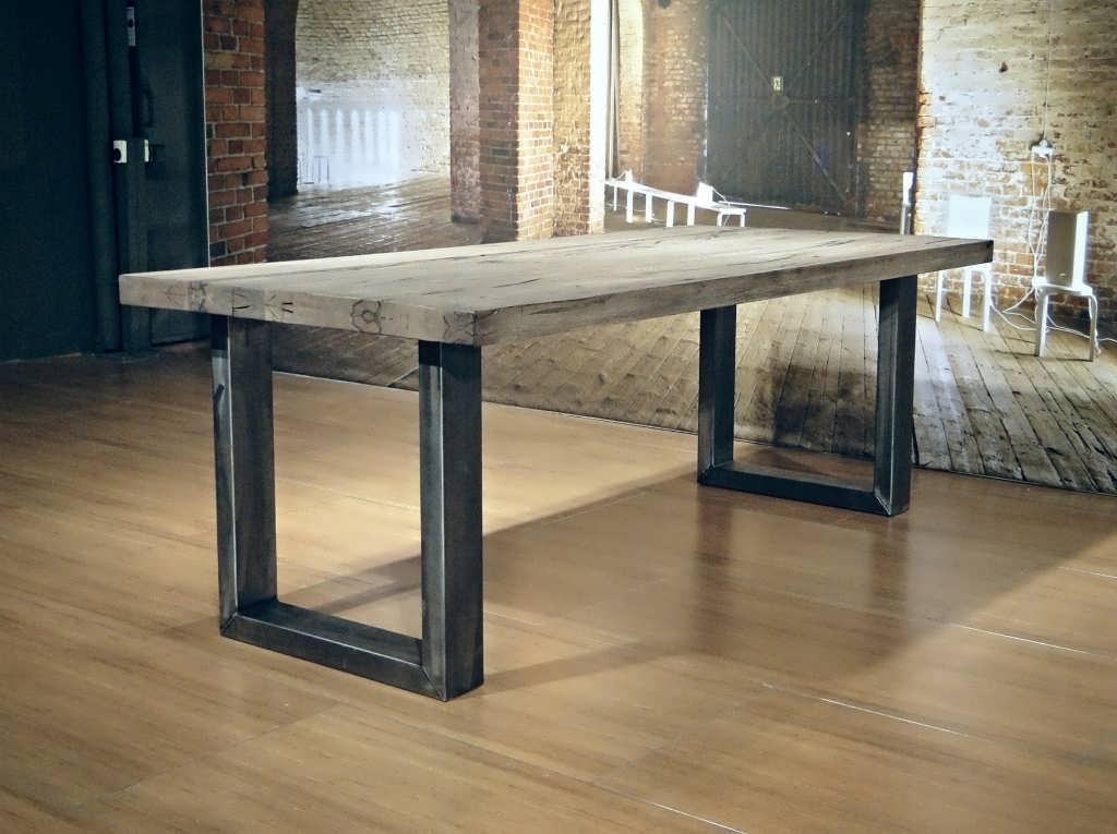 6 Persoons Tafel : Industriele tafel montreuil robuust eiken robuustetafels.nl