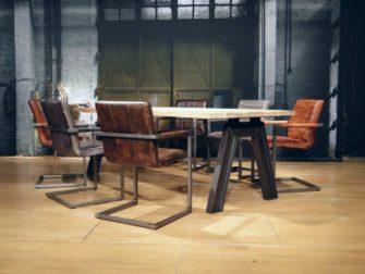industriele oud eiken tafel artu