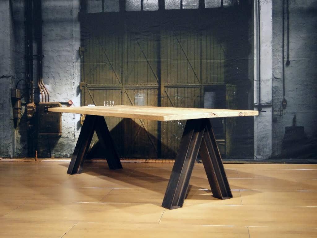 oud houten eettafel