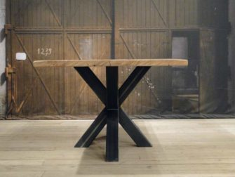 Ronde Tafel Industrieel : Eikenhouten tafel industrieel stoere tafels design tafels