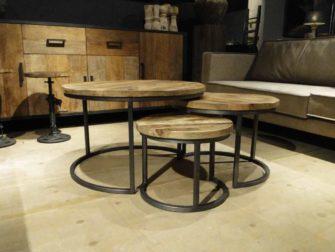 Ronde Tafel Industrieel : Salon tafel industrieel stunning salon tafel industrieel with