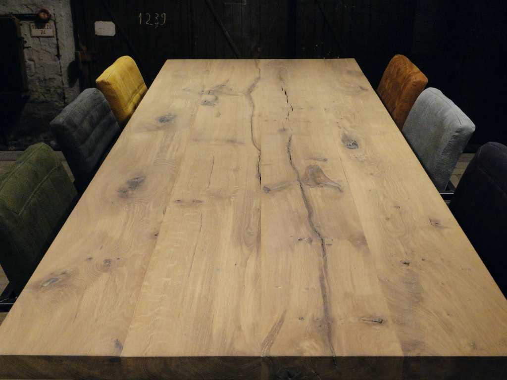 Balken tafel Carpentras rustiek eiken   robuustetafels nl