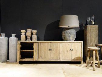elm houten tv-meubel