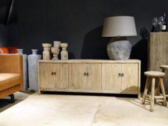 tv-meubel van oud hout