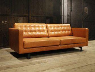 Bank cognac elegant b rodeo bank cognac leather zits eco leather